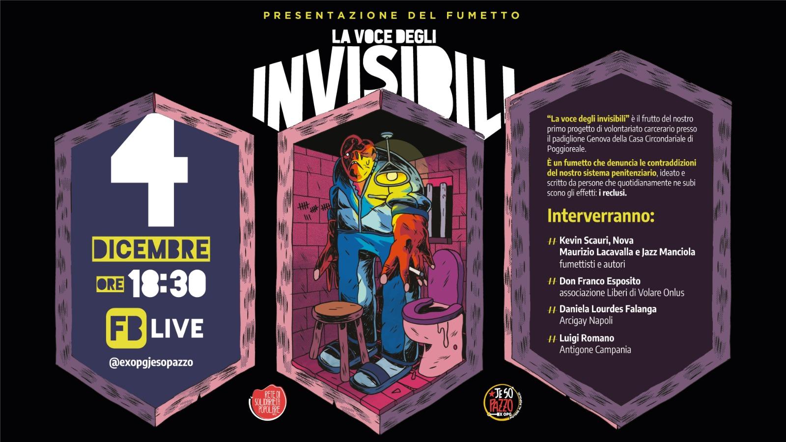 la voce degli invisibili fumetto