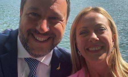 destra Salvini e Meloni
